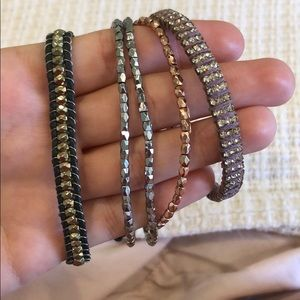 Bundle of three bracelets